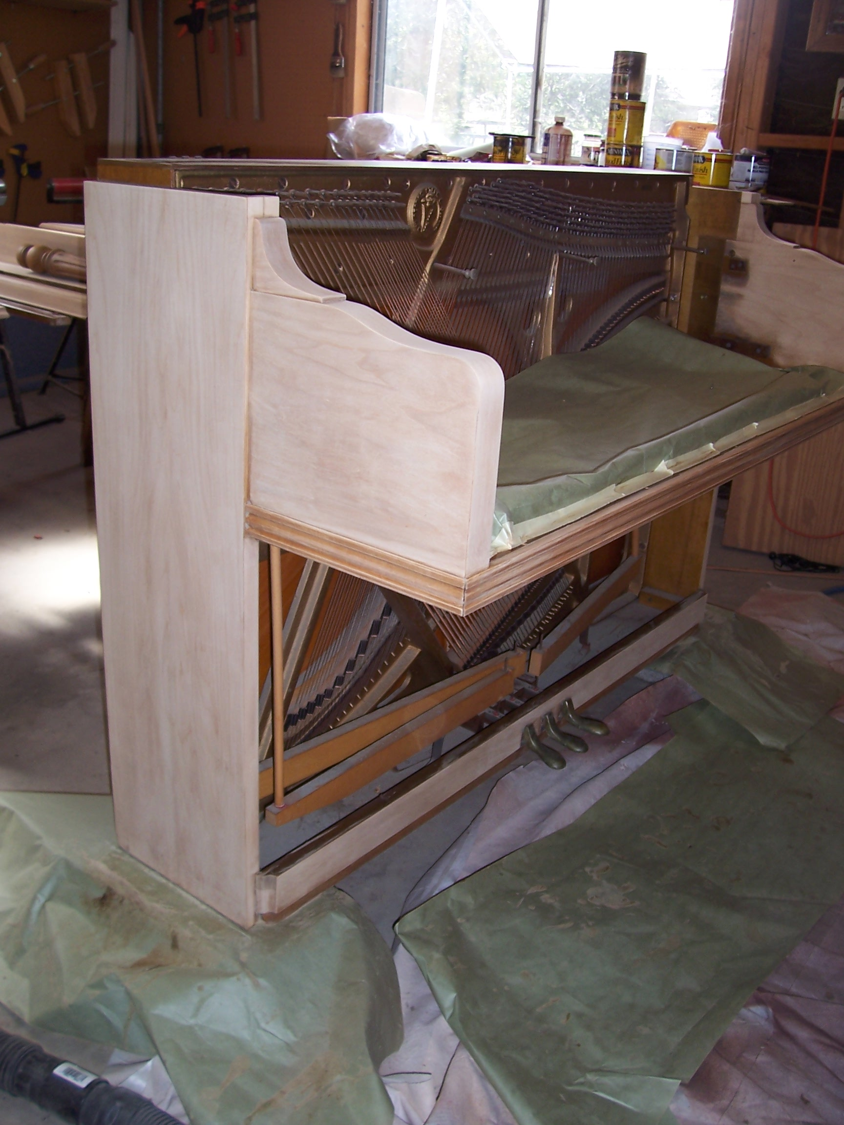 Piano refinishing piano refinishers piano restorers for Classic furniture restoration