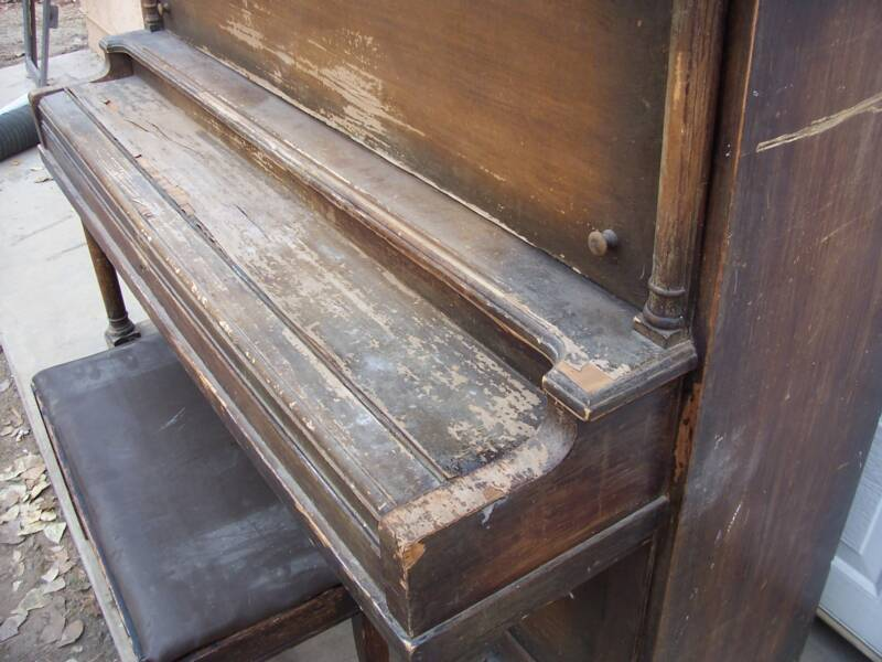 Piano Refinishing – Damaged Piano