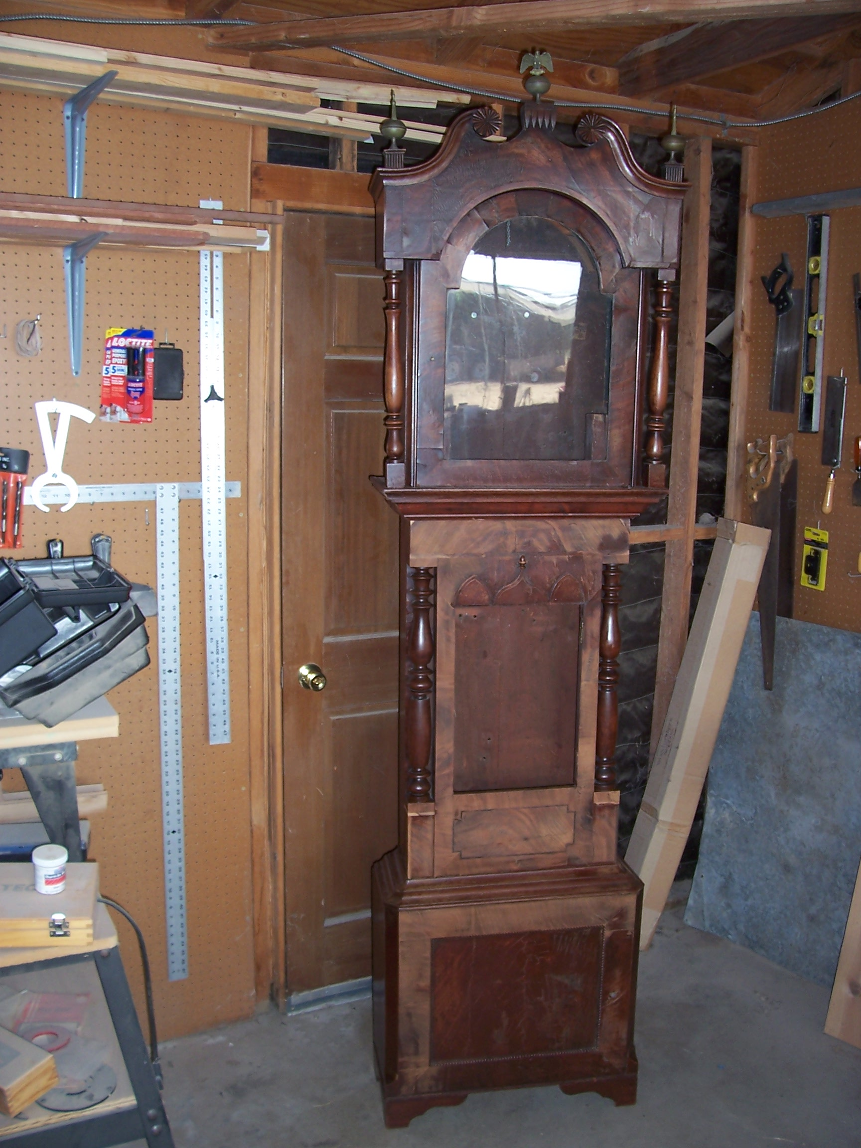 Far-gone grandfather clock